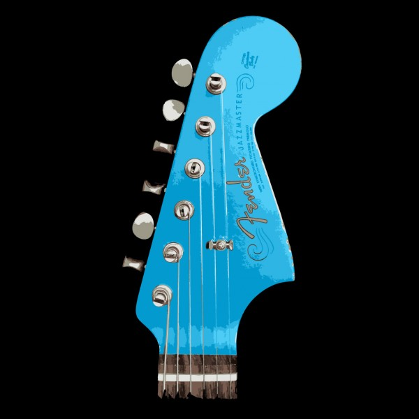 Lake Placid Blue Jazzmaster Headstock