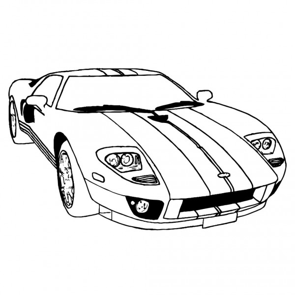 Ford GT Outline