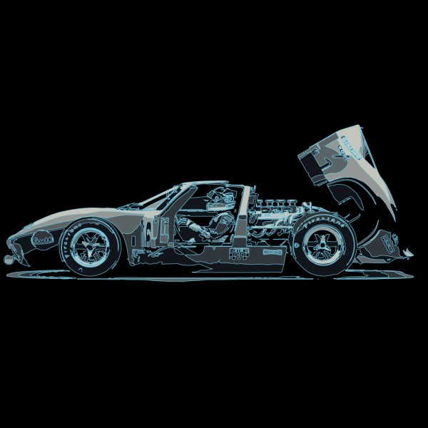 Ford GT40 with Driver