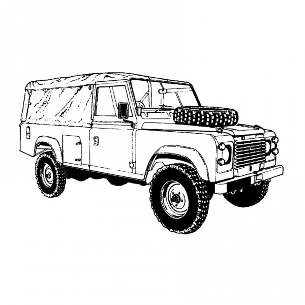 Land Rover Defender 110 Canvas Top