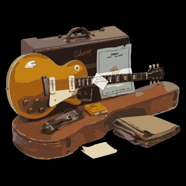 1954 Gibson Les Paul Goldtop and Amp