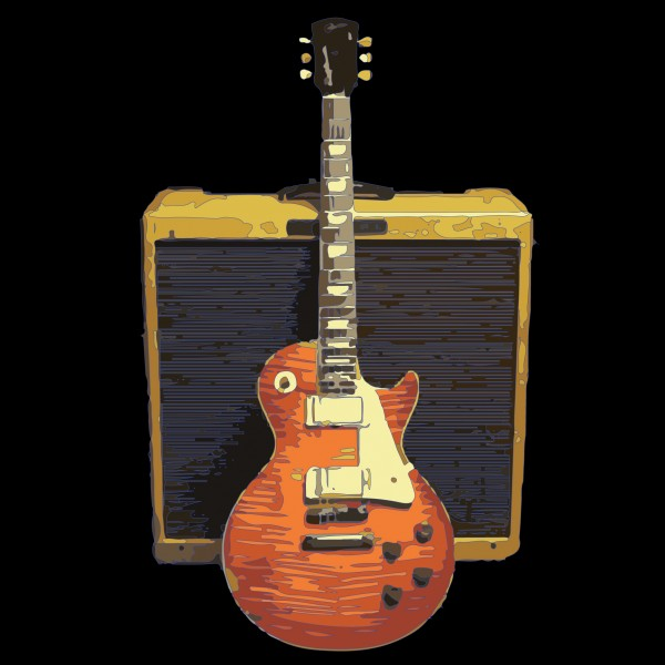 1959 Gibson Les Paul Standard and Fender Amp