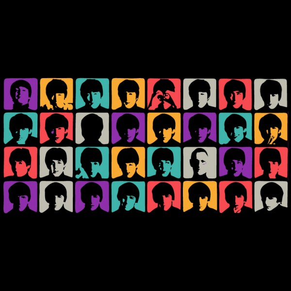 The Beatles Colorful A Hard Day's Night