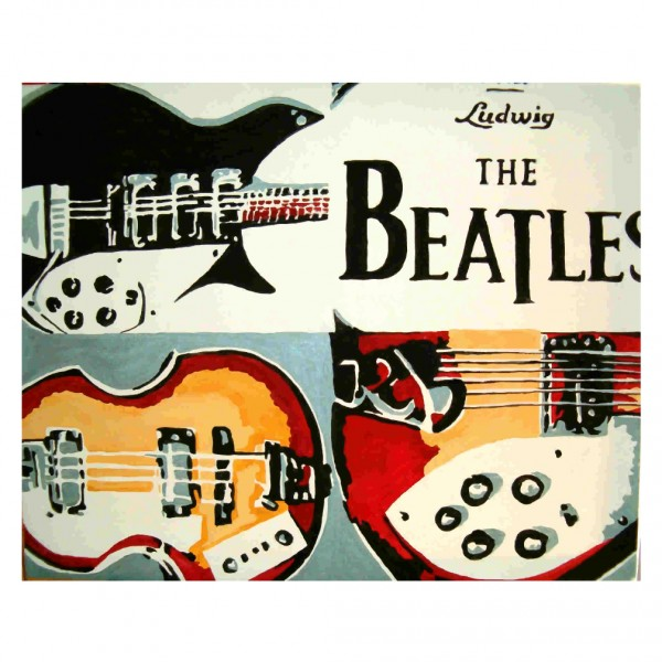 The Beatles Instruments Drawing