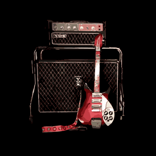 Fireglo Rickenbacker 325 with VOX