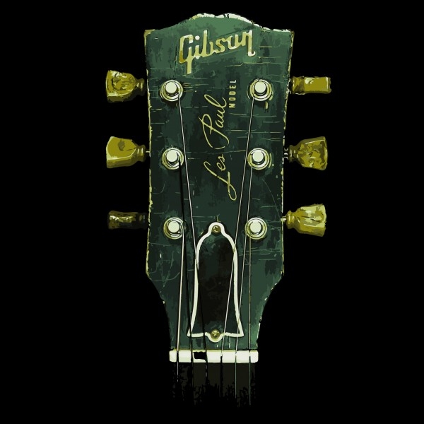 1959 Gibson Les Paul Headstock