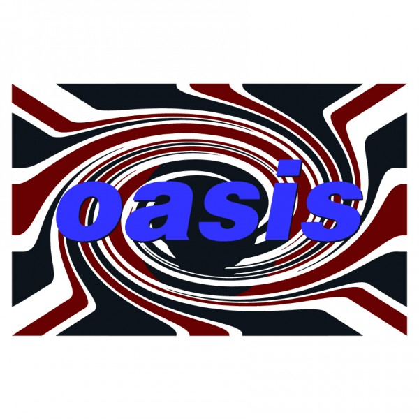 Oasis Twisted Flag